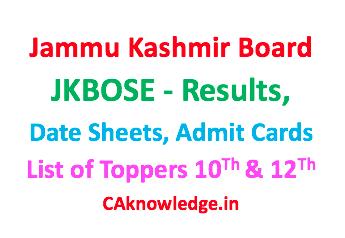 Jammu Kashmir Board JKBOSE CAknowledge