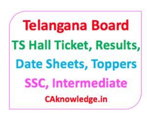 Telangana Board TS CAknowledge