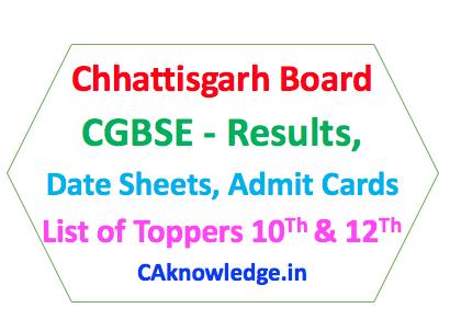 Chhattisgarh Board CGBSE