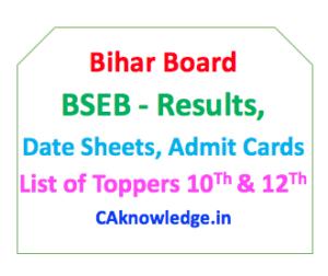 Bihar Board, BSEB CAknowledge