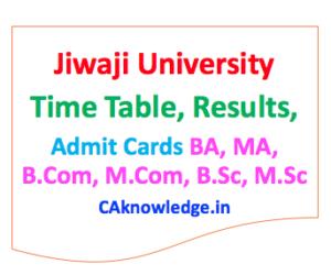 Jiwaji University CAknowledge