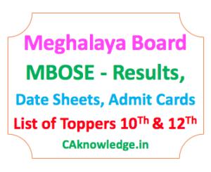 Meghalaya Board MBOSE CAknwoledge