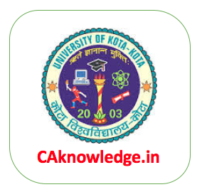 UOK University of Kota CAknowledge