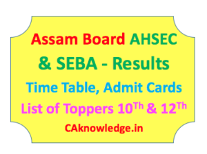 Assam Board AHSEC and SEBA