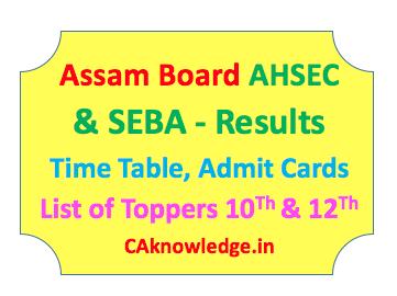 Assam Board AHSEC and SEBA