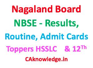 Nagaland Board NBSE