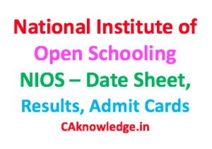 National Institute of Open Schooling NIOS