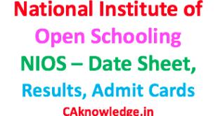 National Institute of Open Schooling NIOS