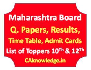 Maharashtra Board CAknowledge.in