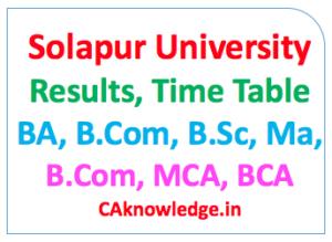 Solapur University CAknowledge