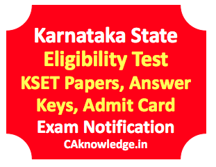 KSET Answer Key 2016, KSET Previous Year Answer Key 2016