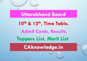 Uttarakhand Board, UK Board 10th and 12th Updates