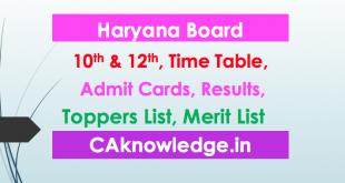 HBSE, Haryana Board 10th, 12th