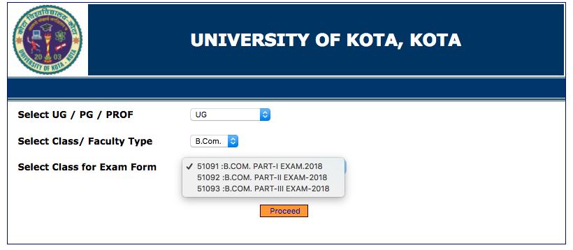 UOK Admit Card 2018