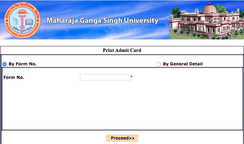 MGSU Admit Card