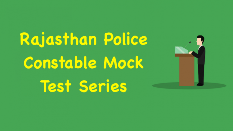Rajasthan Police Constable Mock Test