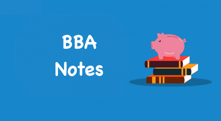 BBA Notes books