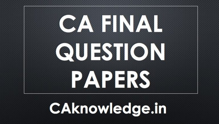 CA Final Question Papers