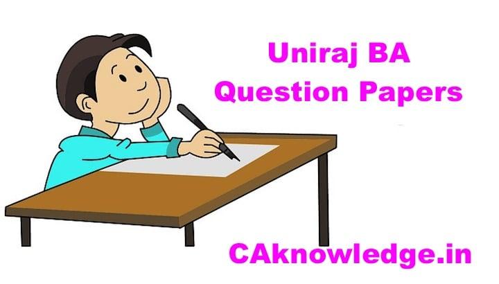 Uniraj BA Question Papers