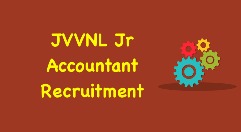 JVVNL Jr Accountant Recruitment