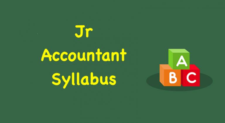 Jr Accountant Syllabus